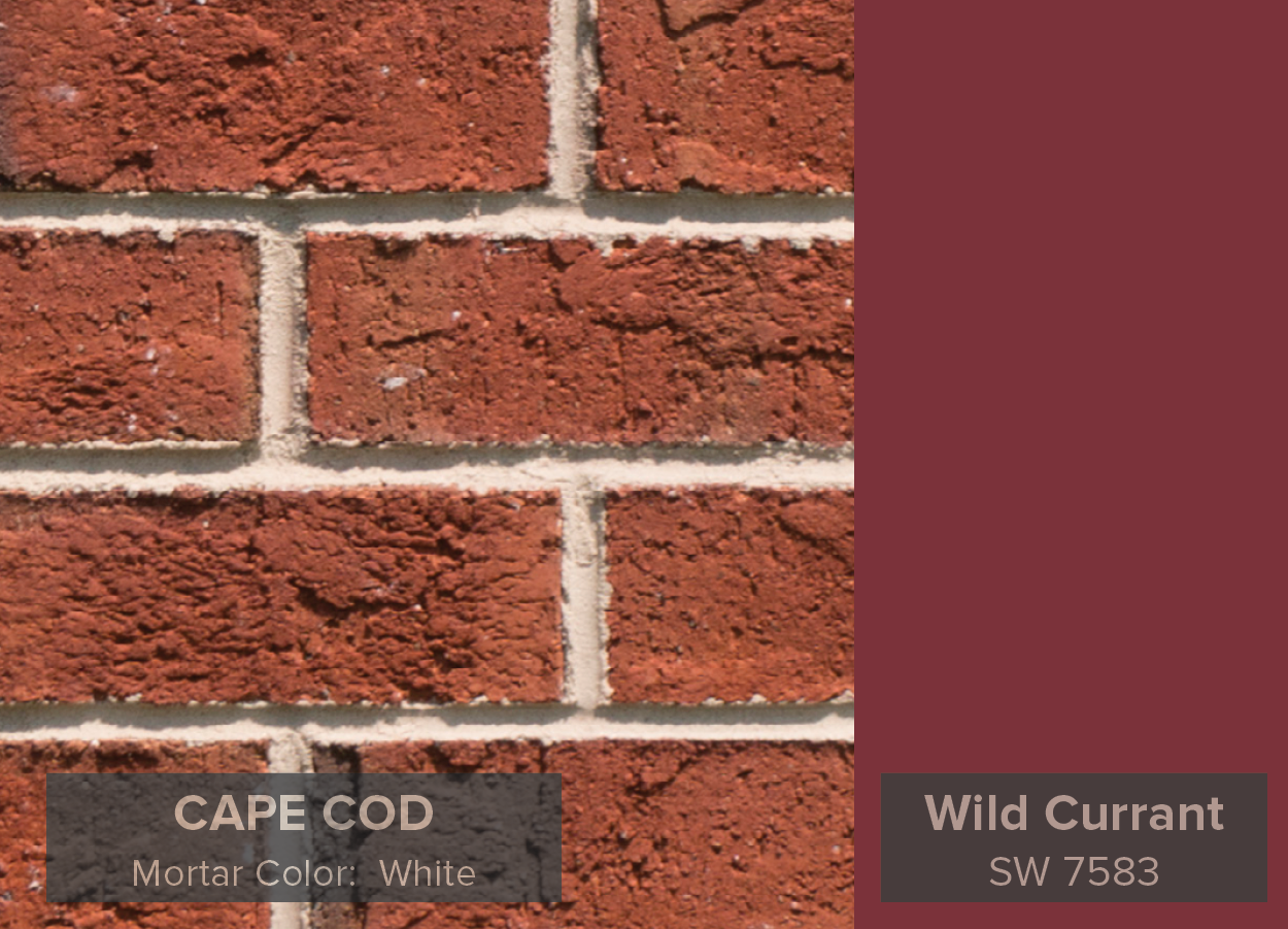 See Below For Our Cape Cod Brick From The Village Collection Paired With Some Of Favorite Red Colors Sherwin Williams