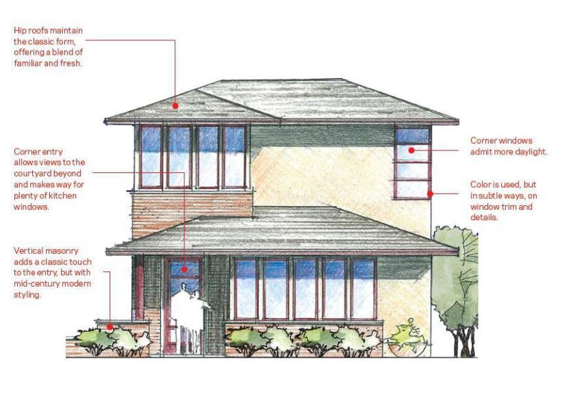 Modern Home Design   Triangle Brick